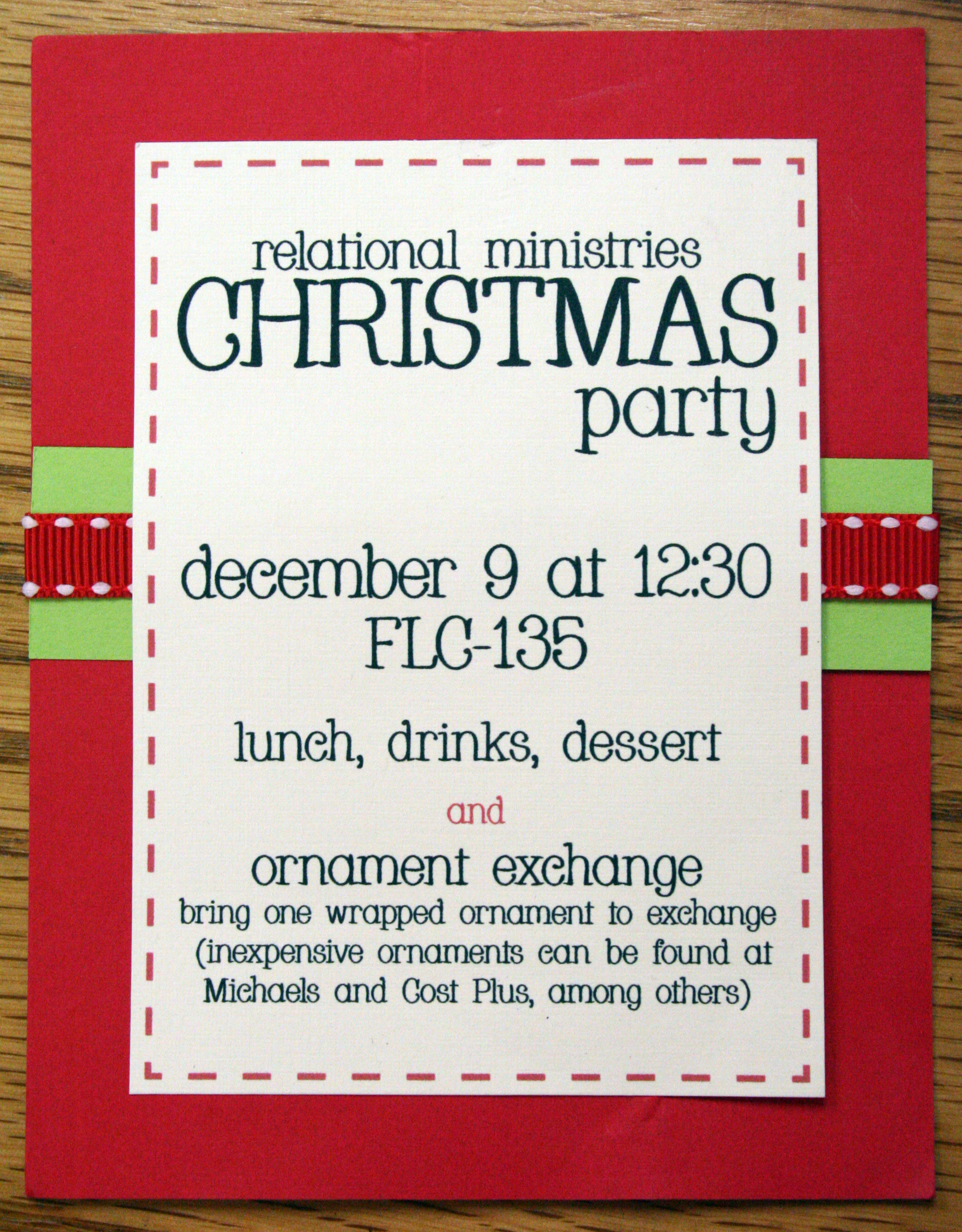 crystal cathedral relational ministries christmas party