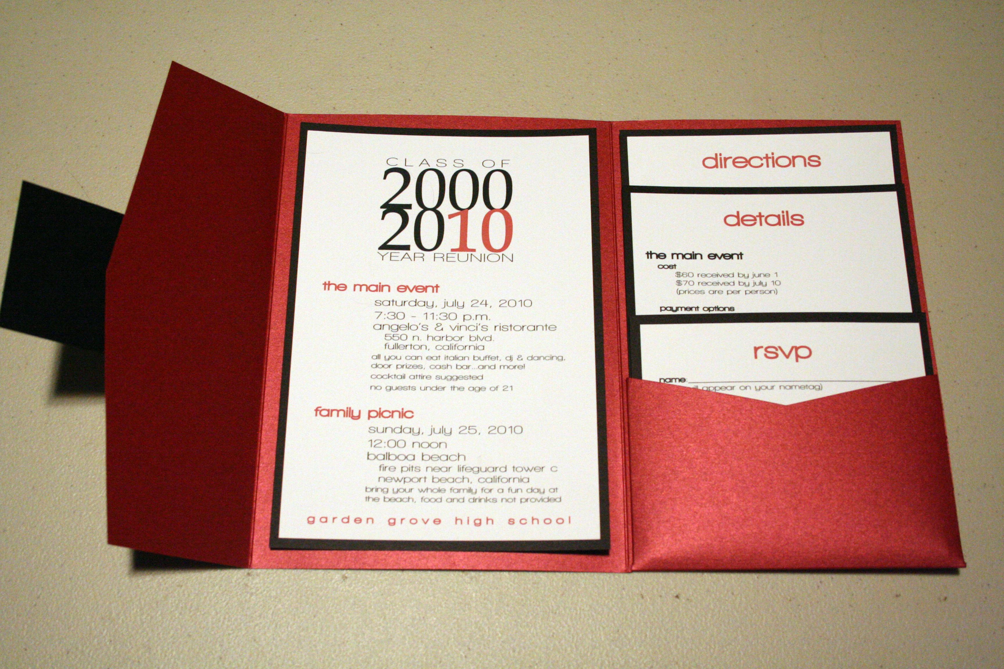 Garden grove high school 10 year reunion mia cartoleria the inside of the invitations stopboris Gallery